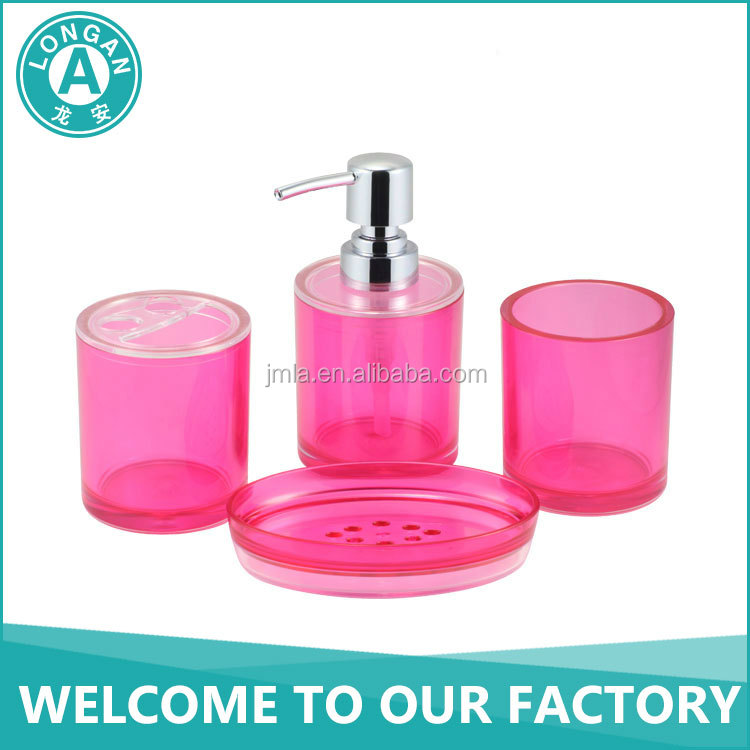 cheap funny bathroom accessories sets plastic soap pump dispenser bottles