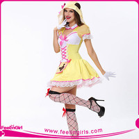 hexinfashion yellow cute doll halloween costume wholesale