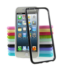 Transparent Mobile Covers For iPhone 6, For iphone 6s TPU PC Clear Hard Back Sell Case