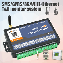Multi Channel 3g Gsm Sms Gprs Wifi Ethernet Temperature Humidity Alarm Data Logger Monitor System