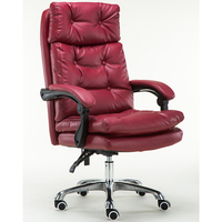 PU Leather High Back Executive Office Task Chair with Metal Base for Computer Desk