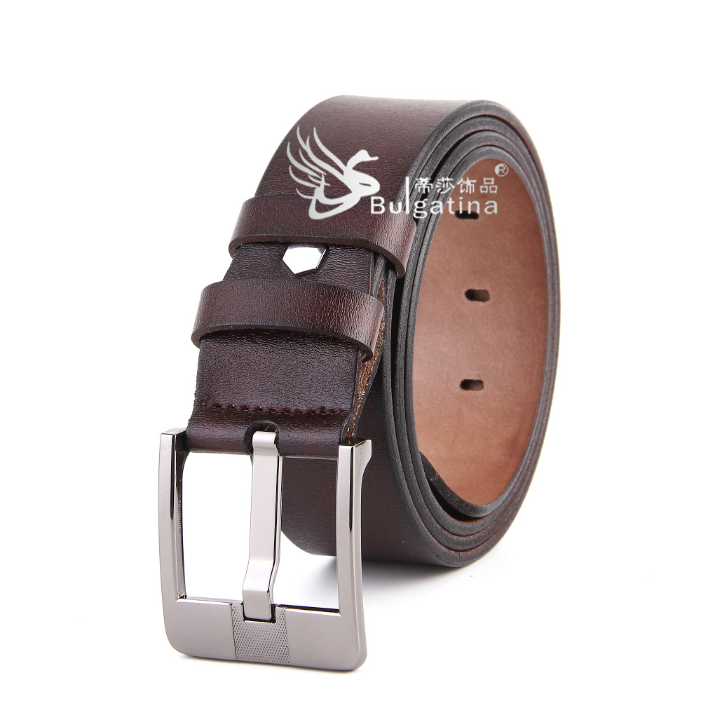 Latest Design Genuine Leather Zinc Alloy Buckle Gents <strong>Belt</strong>