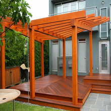 hot sale outdoor natural modern wood pergola