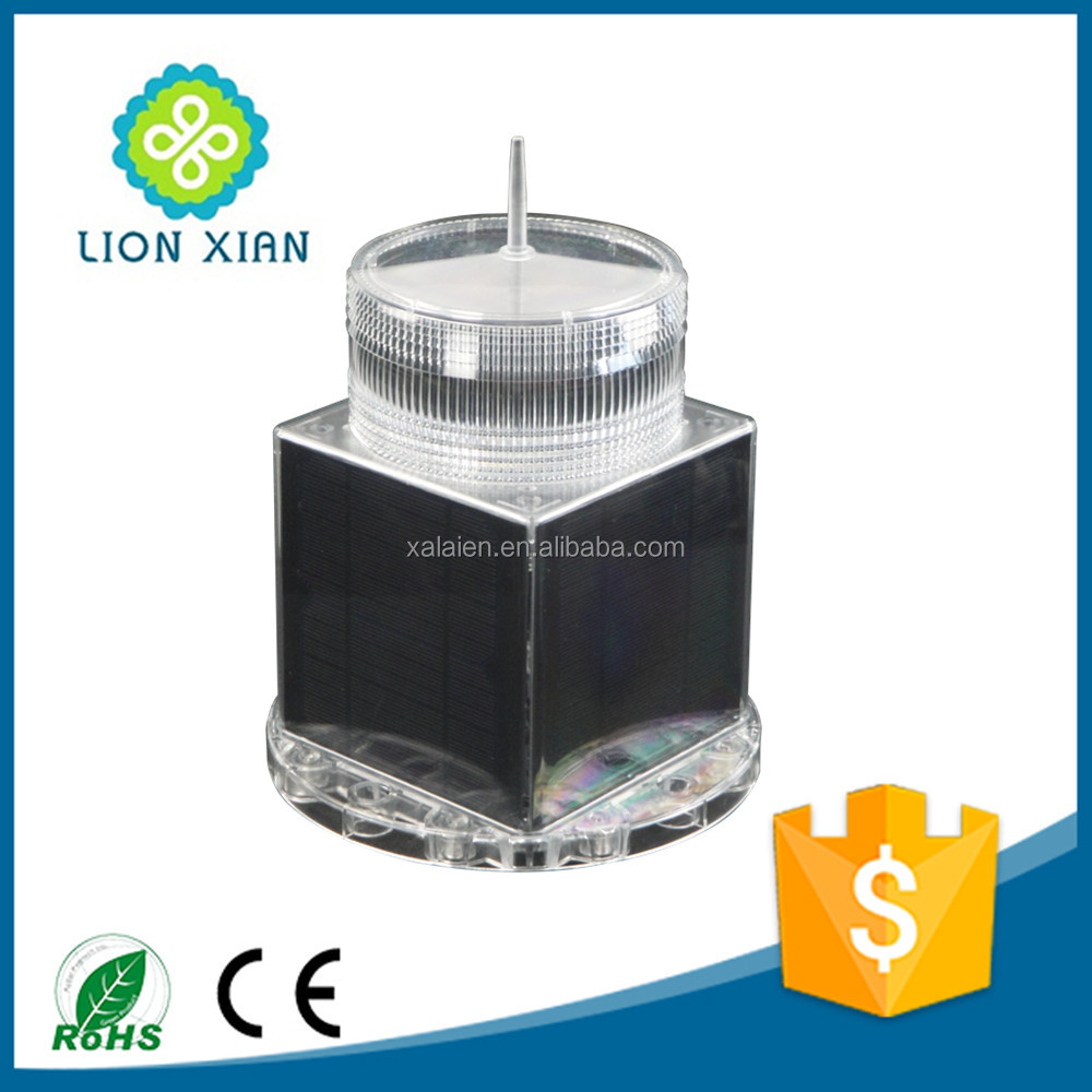rechargeable solar led warning light for tower