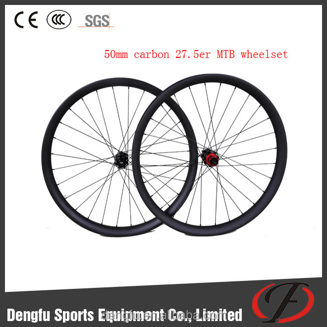 Dengfu bikes 650B 27.5er MTB carbon wheels with quick release/thru-axle