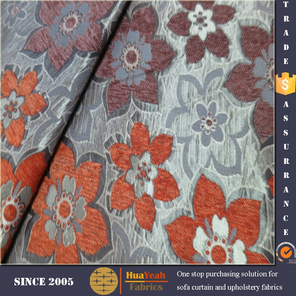 Furnishing woven chenille fabric material for sofa set