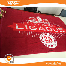 Factory made 100% cotton velour printing weighted brand beach towel weighted CUSTOM beach towel for promotion