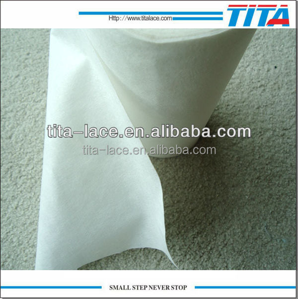 wholesale pva embroidery fusing fabric rolls, hot water disposable nonwoven fabric