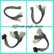 New color double connector car antenna adapter cable