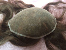 Elegant-wig fine welded mono system, invisible knot men toupee factory price