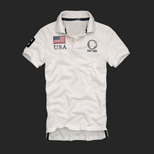 Summer hot-sale pure cotton embroidered short sleeve men polo t shirt casual sports men polo shirts