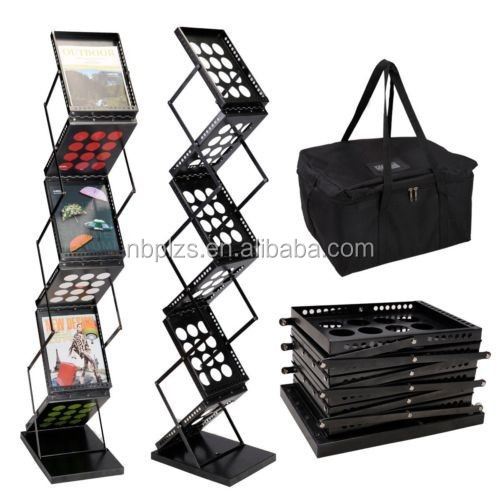 A4/A3 metal Magazine Rack Literature Rack, brochure holder stand