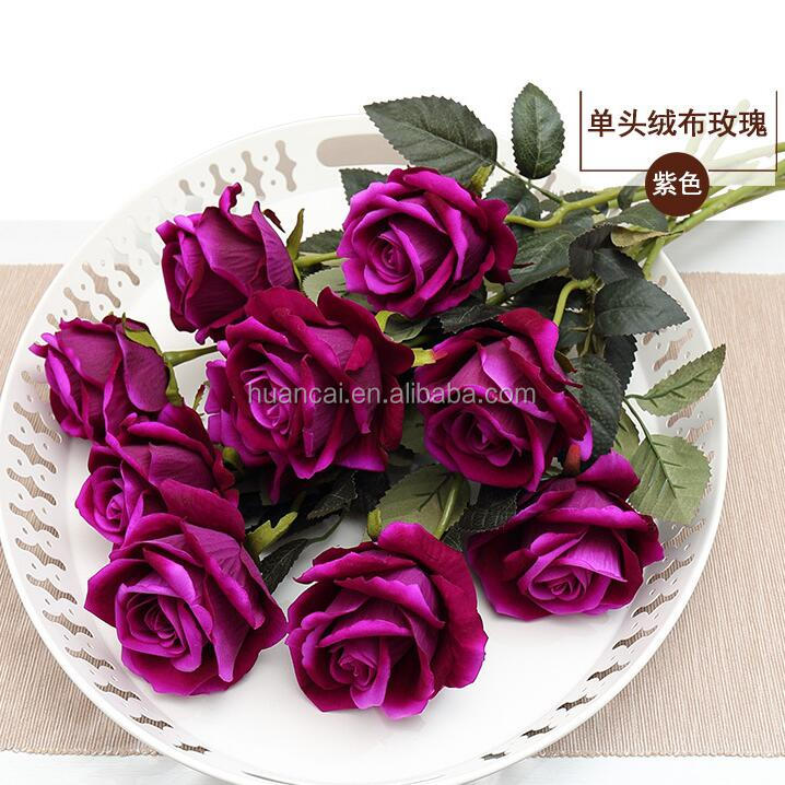 8cm head multicolor handmade rose flower wedding artificial rose silk flower