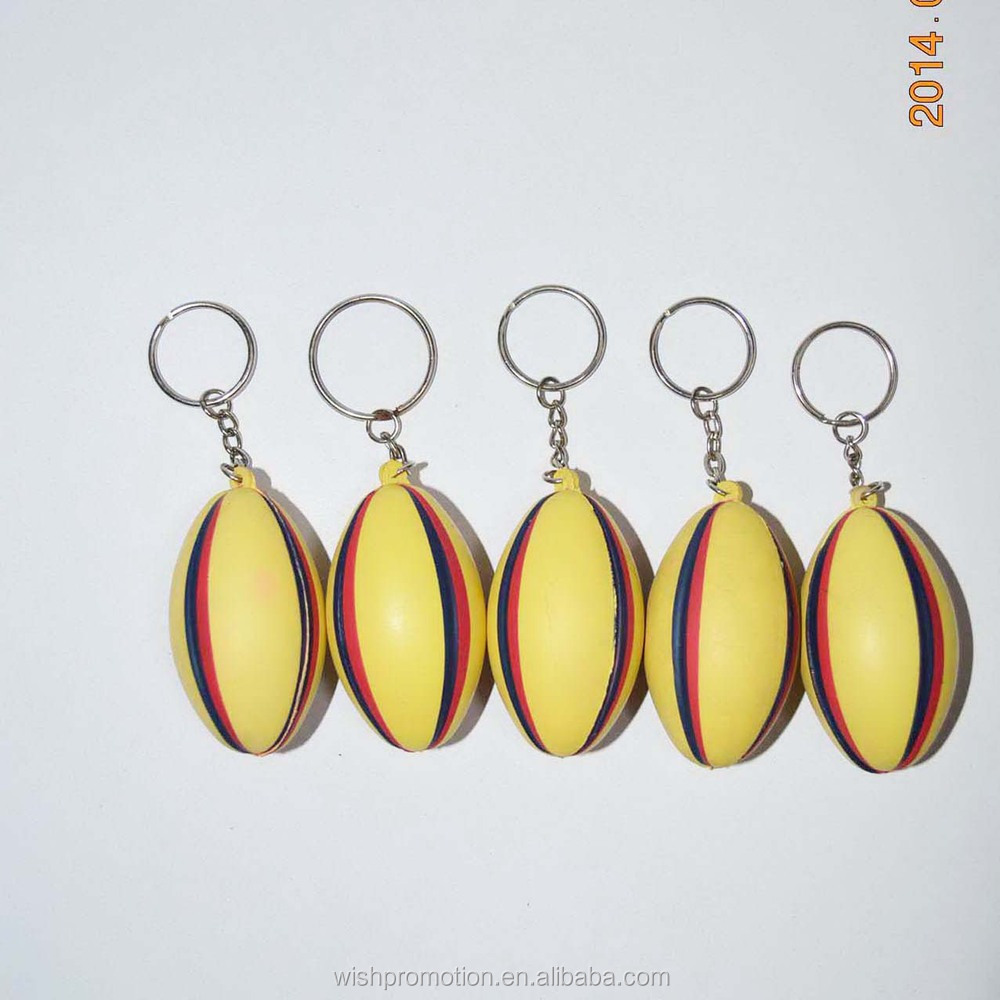 pu stress keychain with fruit shape