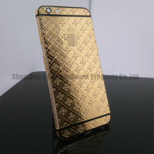 Diamond housing for iPhone 6 plus gold body luxury phone 24ct gold back cover