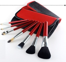 2016 hot selling all sizes hair makeup brushes cosmetic beauty Lady Women Nail Art Brush Kit Set with PU bag