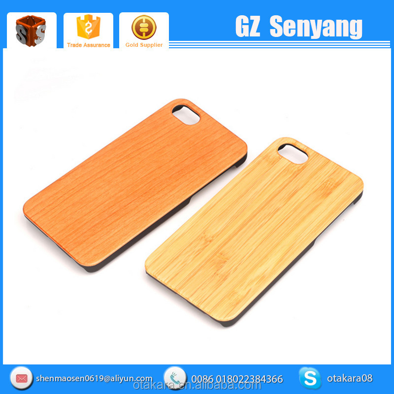 Wholesale Mobile Phone Accessories Plastic + Wood Case for iPhone 7,for iPhone 7 Plus Bamboo Case