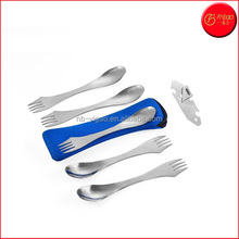 5 Spork Of Steel Utensils Set | Durable & Rust Proof Stainless Steel | Spoon, Fork & Knife Flatware | For Camping, Fishing