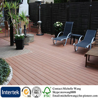 Weather resistant wood plastic composite deck flooring, WPC flooring, plastic wood plank flooring