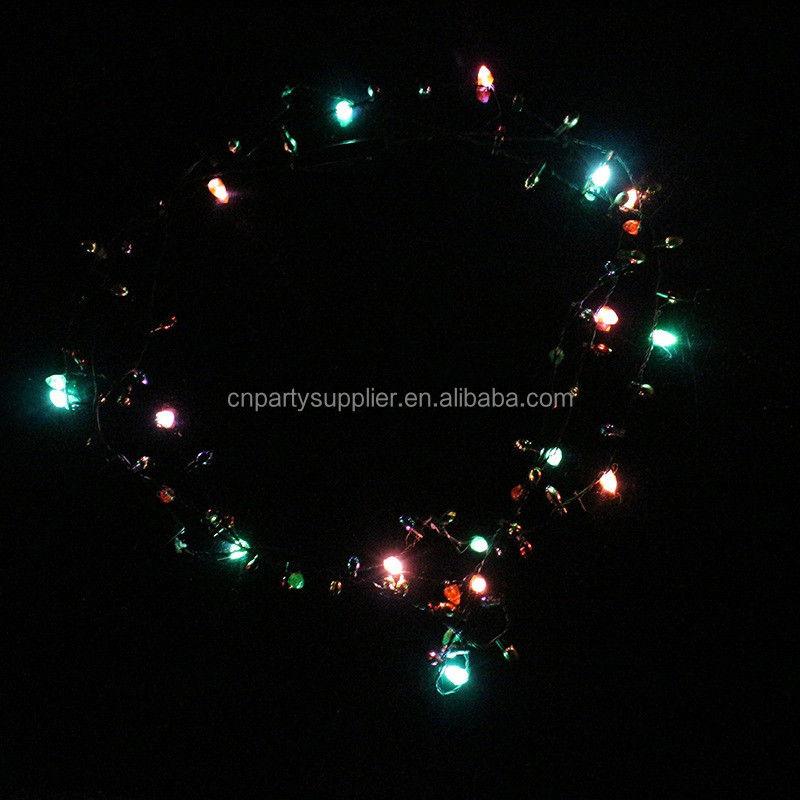 christmas bulb necklace lights up