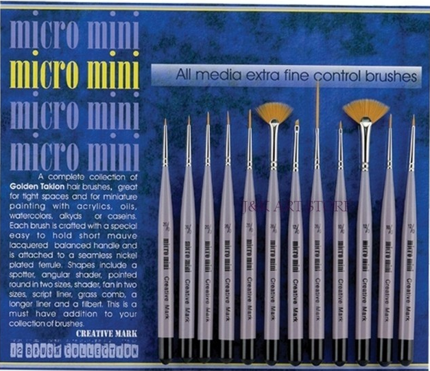Dozen Pack of paint <strong>Brushes</strong>