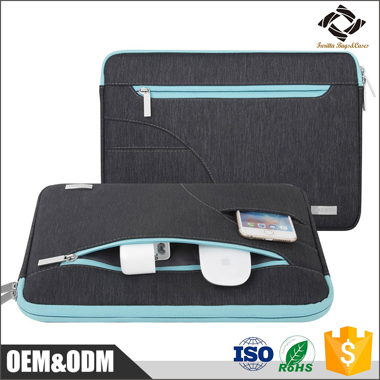 Fashionable custom logo shockproof durable nylon 11.6'' 13.3'' 15.4'' inch laptop sleeve case