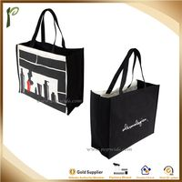 Popwide priting enviroment friendly functional non woven shopping tote bag