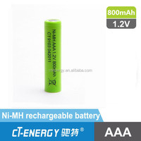 NiMH cordless phone battery AAA 1.2V 800mAh, can supply 2.4V 3.6V 4.8V 7.2V different nimh battery pack