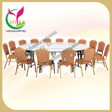 Big and strong a variety of combination table, plywood table top round foldable hotel table YC6005