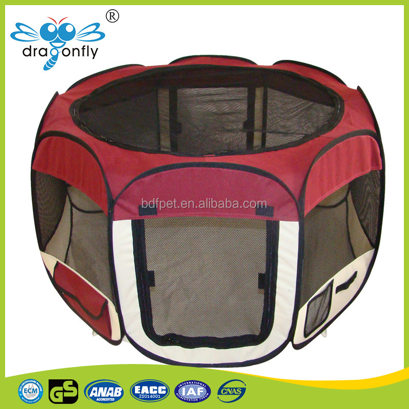 Various styles high quality mesh fabric puppy playpen