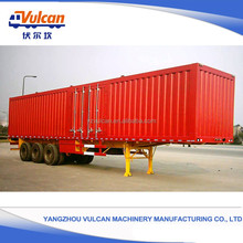 China factory customized 3 axles enclosed semi trailer for sale