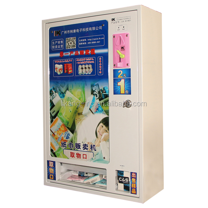 LK-A1401 Mechanical condom vending machine, popular in India