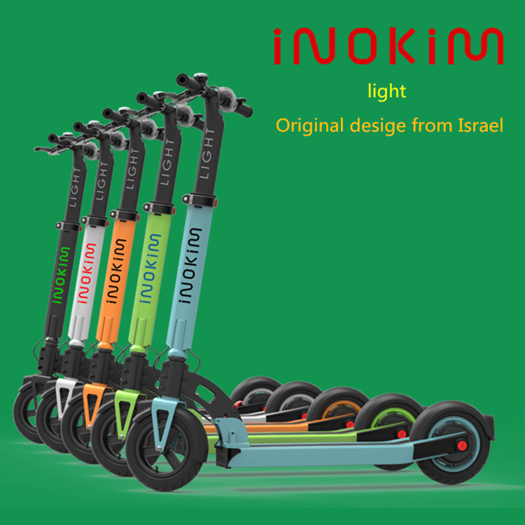 Unique design short charging hours electric scooter from MYWAY/iNOKiM to replace adult three wheel scooter