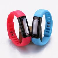 custom design silicone waterproof calorie wristband step counter