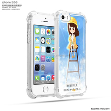Guangzhou custom print soft gel resin reliable air hybrid bulk case for iphone 5