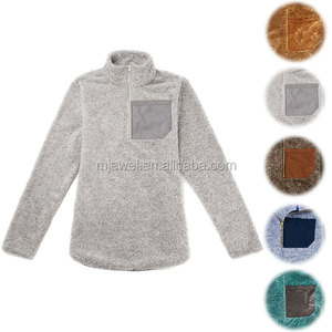 Hot Style Wholesale Monogrammed Sherpa Pullover Polar Fleece Jacket