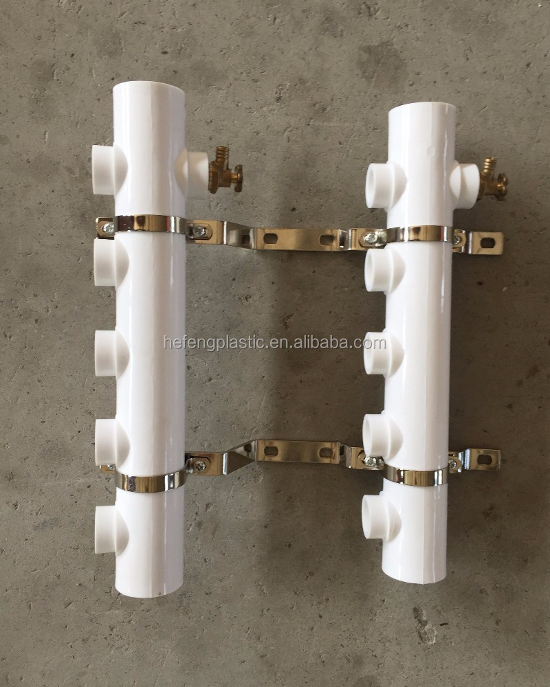 PE Floor heating manifold from 3ways to 8ways easy price