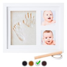 Baby Handprint Kit photo picture frame NO MOLD! Baby handprint footprint Picture Frame