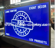 Popular Shop Sign A0, A1, A2, A3, A4 Customized Size Aluminum Click Snap Frame LED Lighting Sourced Slim Advertising Light Box