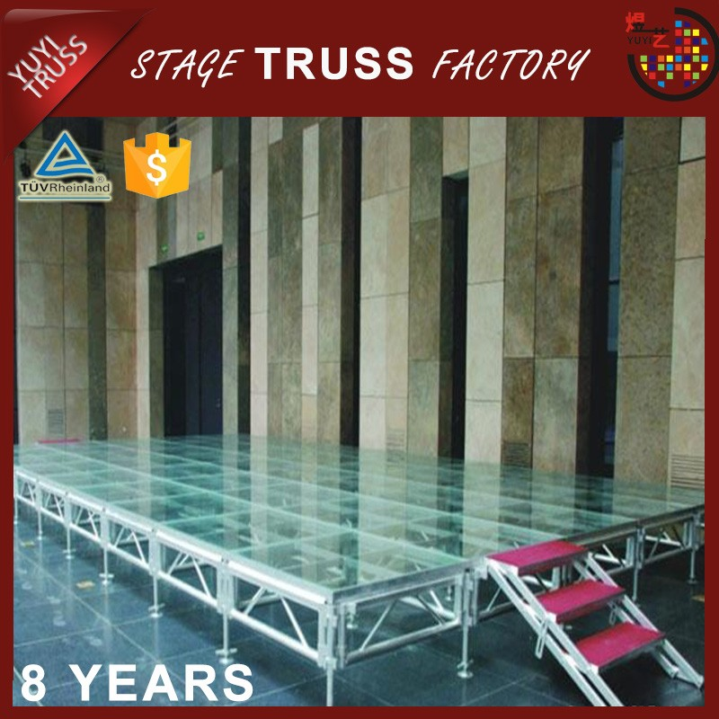 Aacrylic platform mobile wedding stage for sale