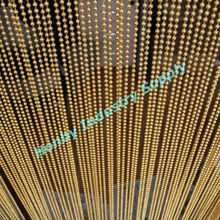 Decorative 6mm Bright Gold Color Metal Bead Chain Curtain