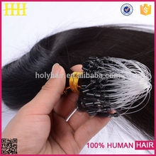 Free Shipping 3 Bundles 6A Wholesale mink brazilian hair body wave 100% virgin micro ring hair extensions