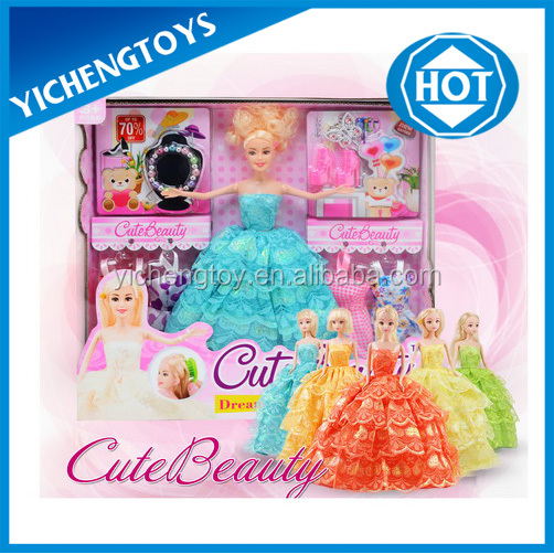 2016 popular games barbie with dresses and accessories
