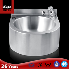 Stainless Steel Semicircle Shape Bathroom Vanity Wash Basin with Surrounding Board
