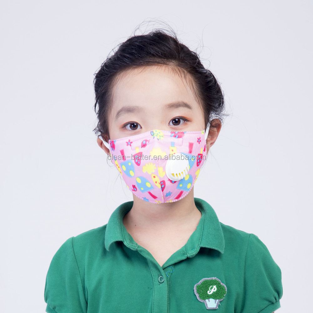 Kids Breathable disposable anti air pollution N95 dust face mask with custom brand printing