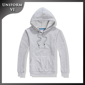 High grade men 100% cotton plain winter pullover lace up custom embroidered hoodies