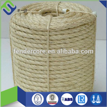 3 strand white unoiled sisal rope for cat tree