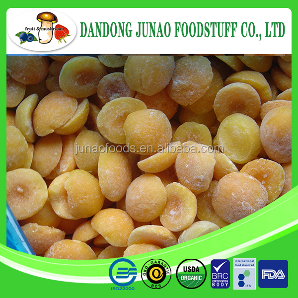 Good tasted Frozen yellow apricots dried