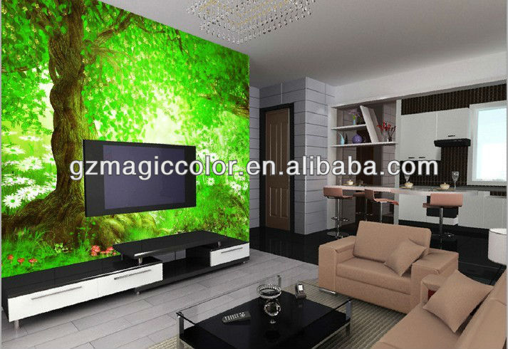 grad wald baum foto landschaft tapeten wandbilder f r tv r ckwand tapeten wand schicht produkt. Black Bedroom Furniture Sets. Home Design Ideas