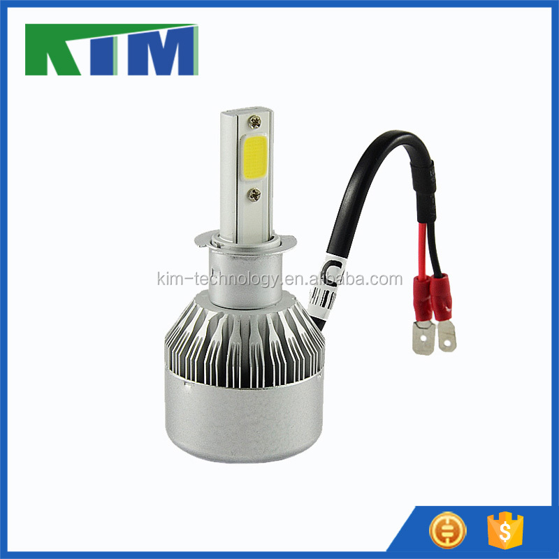 High quality 36w h3 cob chip led headlight 3800lm for car